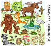 Wild Animals  Hand Drawn...