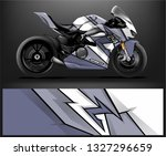 racing motorcycle wrap design.... | Shutterstock .eps vector #1327296659