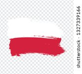 flag of  poland from brush...