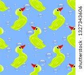 raster funny rubber yellow duck ... | Shutterstock . vector #1327343606