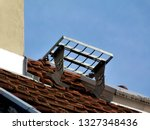 cement stucco finished chimney... | Shutterstock . vector #1327348436