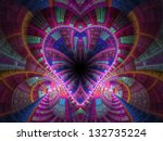 Colorful Fractal Heart  Digita...