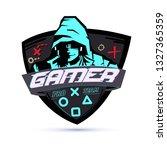 gamer logo or hacker concept  ... | Shutterstock .eps vector #1327365359