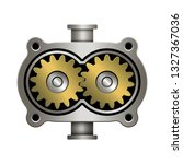 gear pump. mechanism for... | Shutterstock .eps vector #1327367036