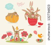 happy easter   Shutterstock .eps vector #132736823