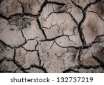 cracked ground surface seamless ... | Shutterstock . vector #132737219