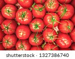 the pink tomatoes  closeup | Shutterstock . vector #1327386740