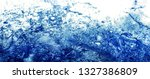 abstract splashing water  on... | Shutterstock . vector #1327386809