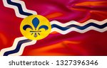 Saint Louis Flag In The Wind....