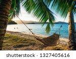 Empty Hammock Between Two Palm...