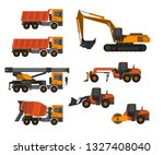 construction machinery vector | Shutterstock .eps vector #1327408040
