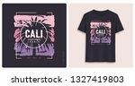 california. graphic tee shirt... | Shutterstock .eps vector #1327419803