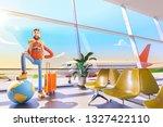 world travel concept. cartoon... | Shutterstock . vector #1327422110