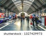 frankfurt  germany   feb 28 ... | Shutterstock . vector #1327429973
