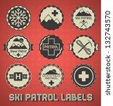 Vector Set  Vintage Ski Patrol...