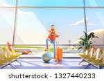 world travel concept. cartoon... | Shutterstock . vector #1327440233