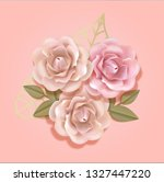 elegant paper beige and peach... | Shutterstock .eps vector #1327447220
