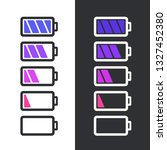 vector science battery icon set.... | Shutterstock .eps vector #1327452380