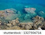 the relief of the seabed and... | Shutterstock . vector #1327506716