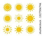 flat sun icon. sun pictogram.... | Shutterstock .eps vector #1327506746
