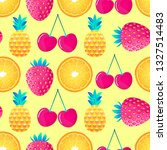 seamless pattern with cherries... | Shutterstock .eps vector #1327514483