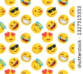 emoticon and emoji pattern ... | Shutterstock .eps vector #1327515353