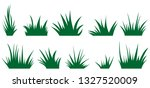 green grass set isolated on... | Shutterstock . vector #1327520009