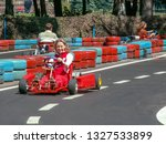 go kart racer on the track.... | Shutterstock . vector #1327533899