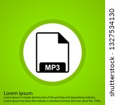 vector mp3 icon  | Shutterstock .eps vector #1327534130