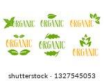 organic vector logo set in... | Shutterstock .eps vector #1327545053