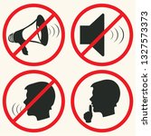 silence vector icon.the no... | Shutterstock .eps vector #1327573373