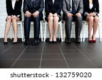 stressful people waiting for... | Shutterstock . vector #132759020