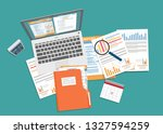 auditing and business analysis... | Shutterstock .eps vector #1327594259