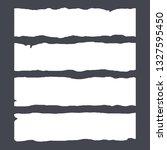 note paper strips stuck on dark ... | Shutterstock .eps vector #1327595450