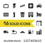 industrial icons set with lift  ...