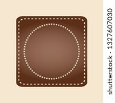 embroidered flat style brown... | Shutterstock . vector #1327607030
