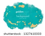 abstract teal green and golden... | Shutterstock .eps vector #1327610333