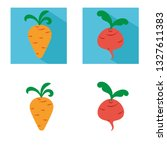 carrot and beet vector icon.... | Shutterstock .eps vector #1327611383