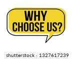 why choose us speech bubble on... | Shutterstock .eps vector #1327617239