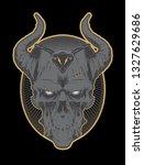 decrepit evil cartoon skull... | Shutterstock . vector #1327629686