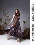 pretty fashion beauty model... | Shutterstock . vector #1327648889
