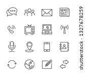 communication line icon set ... | Shutterstock .eps vector #1327678259
