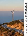 windmill mountain power plant   Shutterstock . vector #1327678769