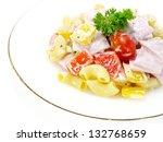 pork ham salad.   Shutterstock . vector #132768659