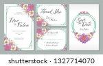 wedding invitation card design... | Shutterstock .eps vector #1327714070