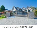 big custom made luxury house... | Shutterstock . vector #132771488