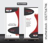roll up business brochure flyer ... | Shutterstock .eps vector #1327716746