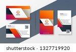 elegant modern business card... | Shutterstock .eps vector #1327719920