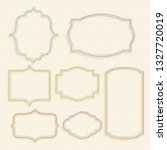 classic empty vintage labels... | Shutterstock .eps vector #1327720019