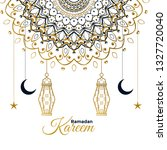 ramadan kareem decorative... | Shutterstock .eps vector #1327720040
